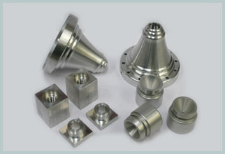 collection of aluminium turning and machining