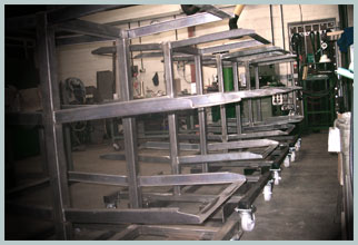 welding and fabrication of steel racking