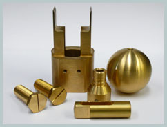 cnc machined brass components