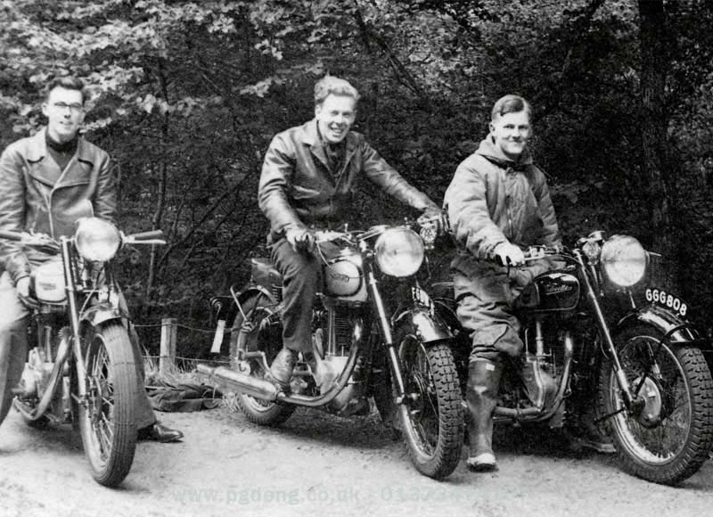 1950s vintage motorcycles velocette and norton